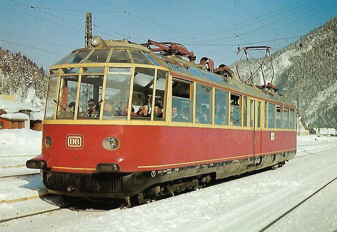 """DB, elektrischer Aussichtstriebwagen 491 001 """"Gläserner Zug"""". (10396)"""