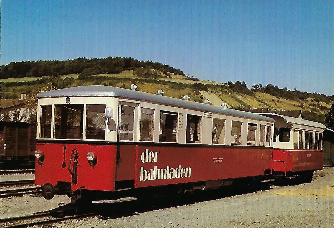 Südwestdeutsche Eisenbahnen AG, VT 303 in Dörzbach. (10407)