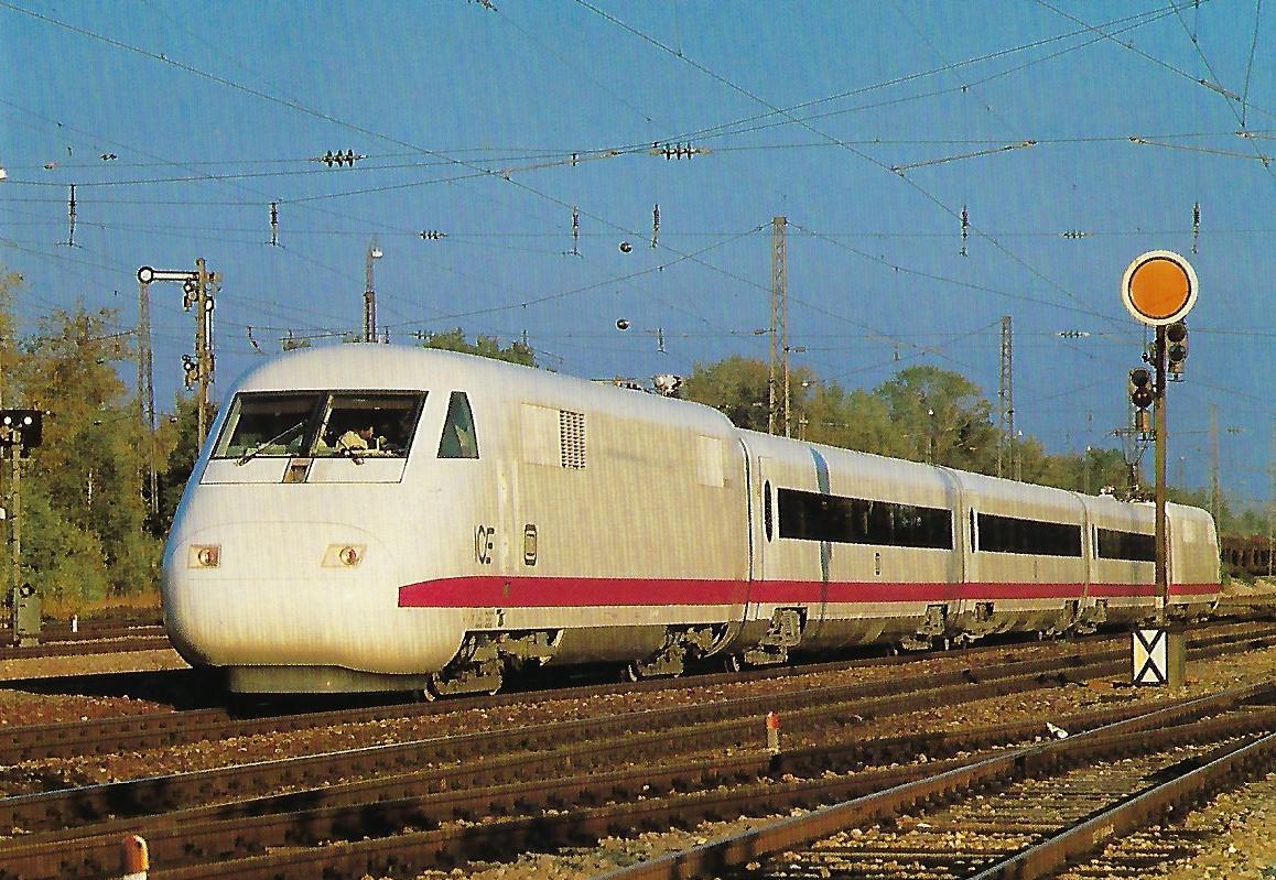 ICE, Hochgeschwindigkeitszug der DB, BZA München 1985, Bo'Bo' (Triebkopf). (10435)