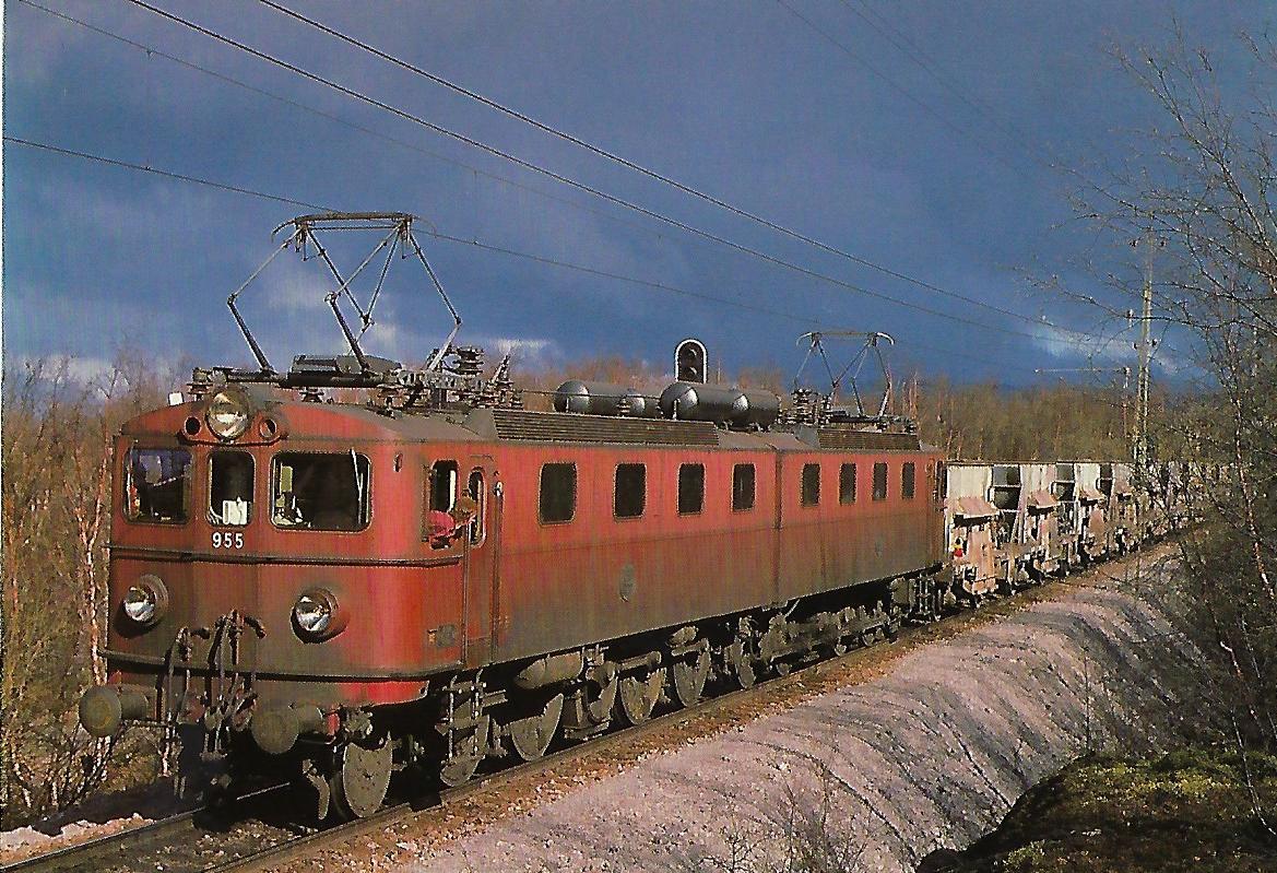 Schwedische Staatsbahnen (SJ), elektrische Doppellokomotive Dm 955. (10446)