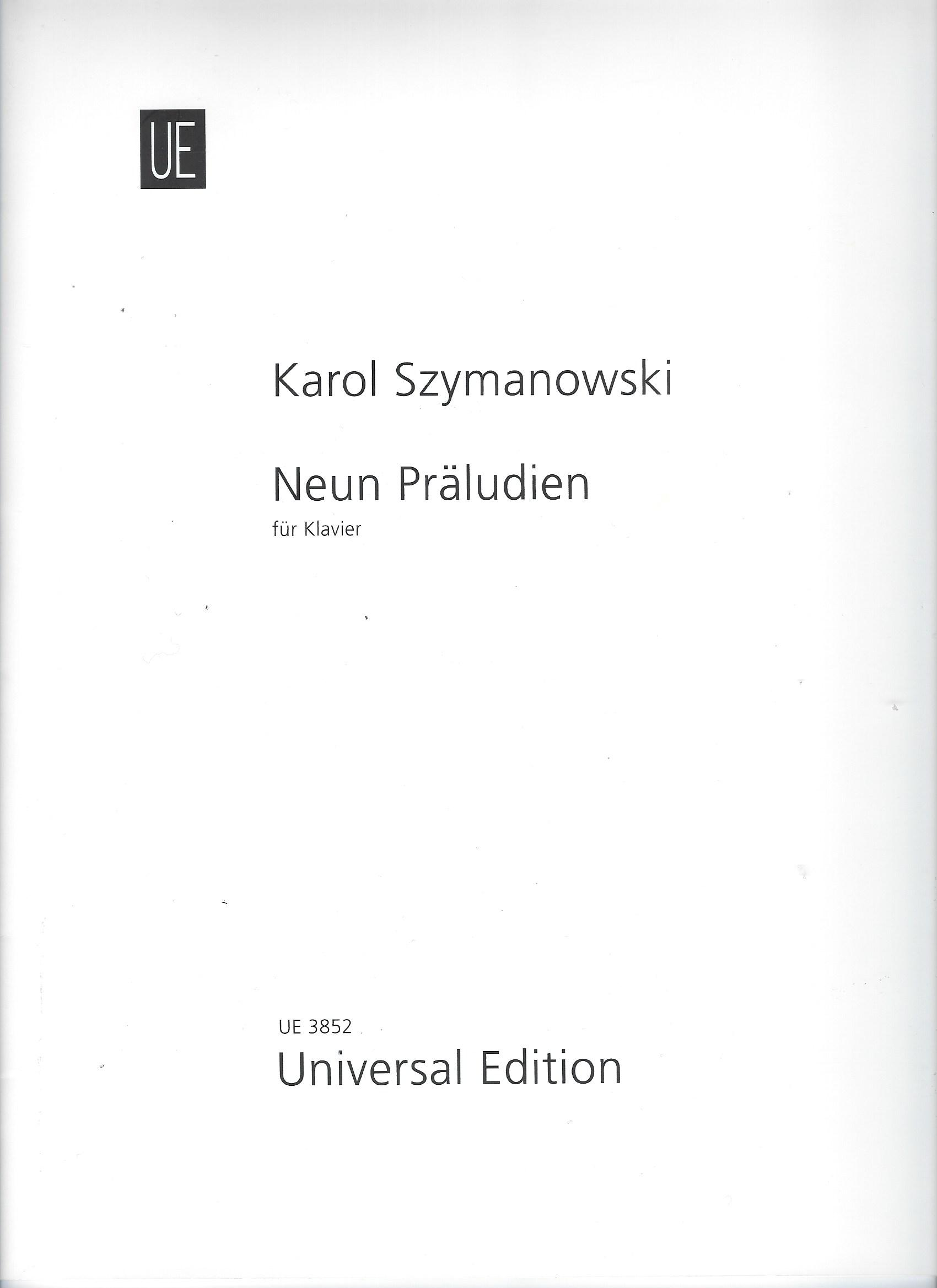 Karol Szymanowski. 9 Préludes. (Noten: Klavier zweihändig)