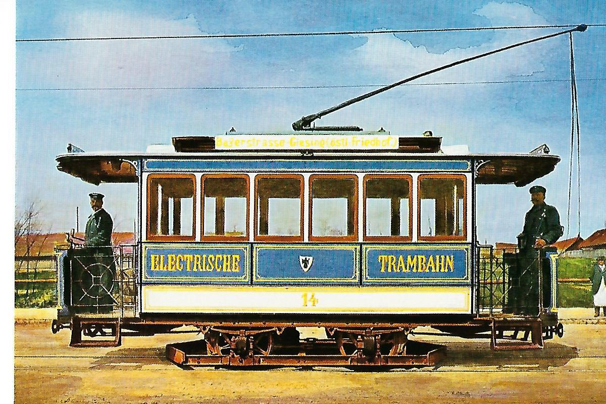 Münchner Straßenbahn Triebwagen 14. Bestell-Nr. 6005
