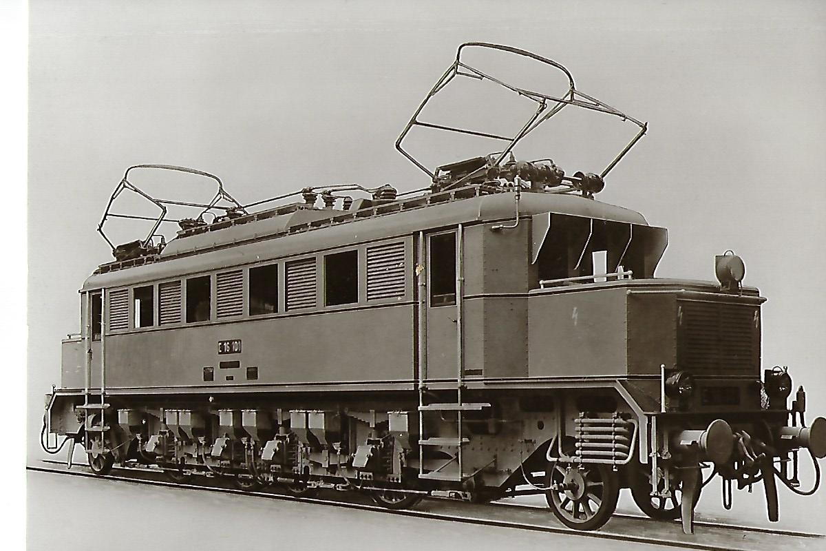 E 16 101 Schnellzug-Lokomotive DR, Borsig 1928. Eisenbahn Bestell-Nr. 1021