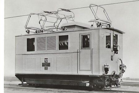 Bayerische Zugspitzbahn AG. Zahnrad-Lokomotive Nr. 12, AEG 1929. Eisenbahn Bestell-Nr. 1070