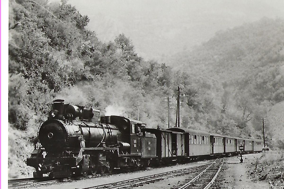 ŽS Jugoslawische Eisenbahnen. Schmalspur-Lokomotive 85 – 039 in Mededa. Eisenbahn Bestell-Nr. 1072
