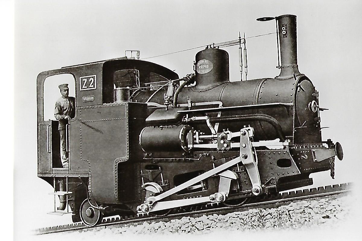 Schneebergbahn. Zahnradlokomotive Z 2, Krauss & Co Linz 1897. Eisenbahn Bestell-Nr. 1091