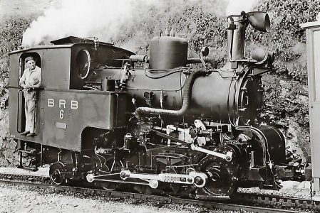 Dampflokomotive Nr. 6 der Brienz-Rothorn-Bahn, Winterthur 1933. Eisenbahn Bestell-Nr. 1092
