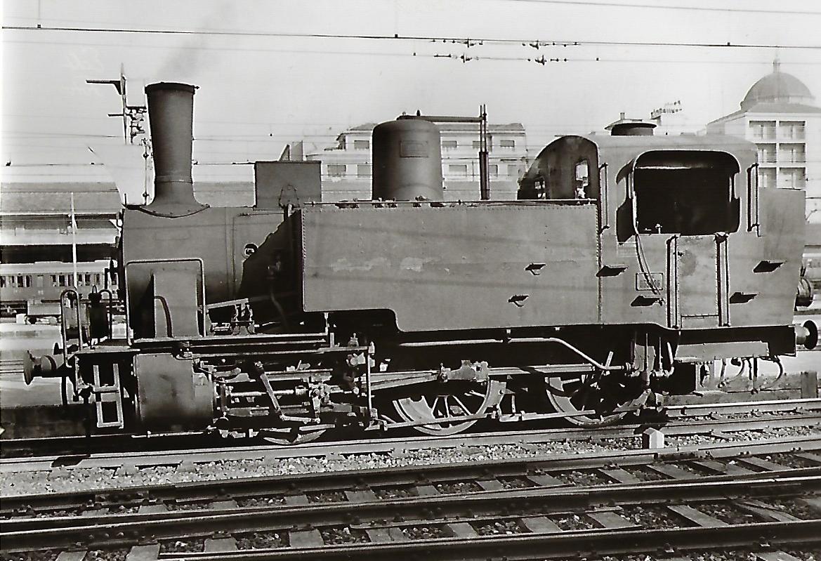 FS Italienische Staatsbahnen, Dampflokomotive 835 086, Breda Baujahr 1906 – 1922. Eisenbahn Bestell-Nr. 1094