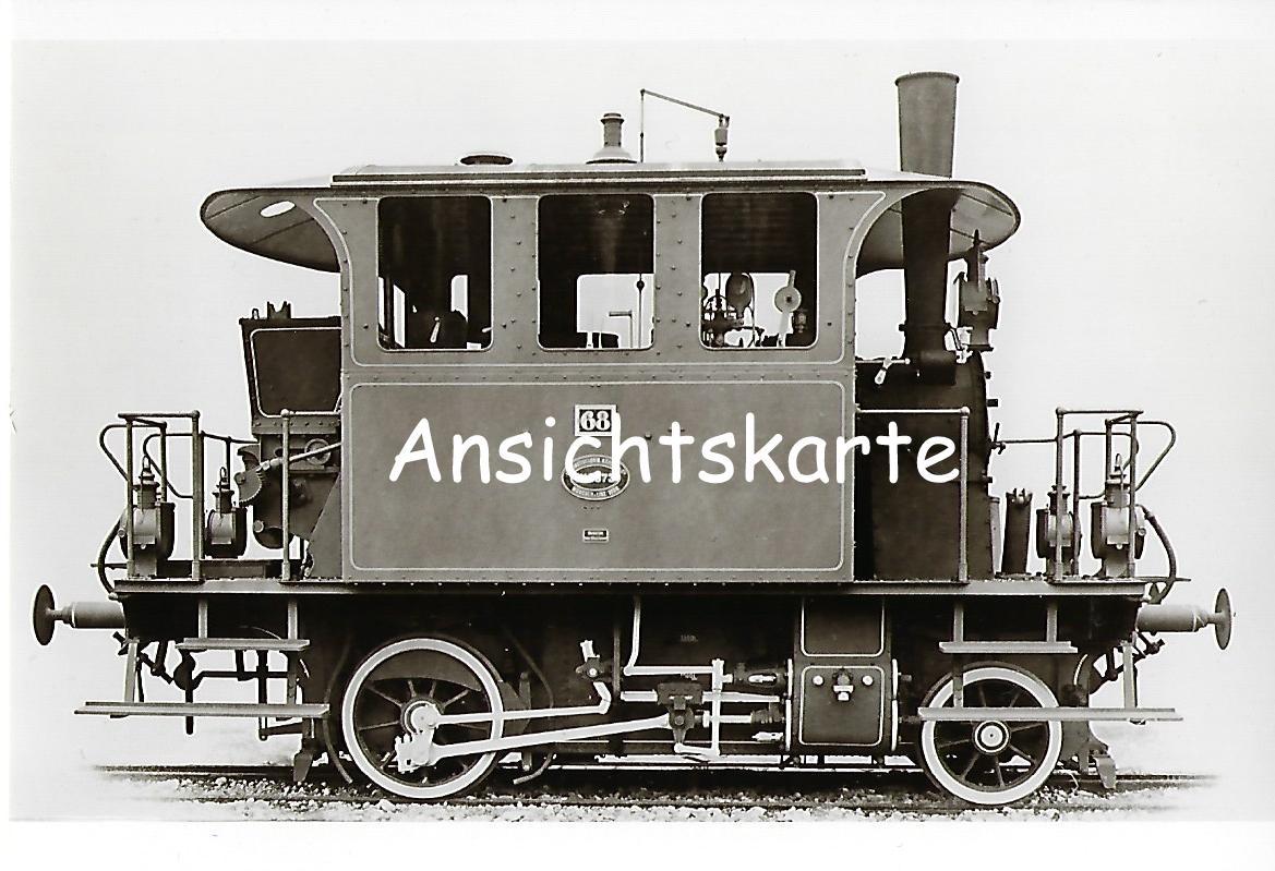 Lokalbahn AG München. Lokomotive Nr. 68 für die Strecke Fürth – Cadolzburg, Krauss 1906. Eisenbahn Bestell-Nr. 1102