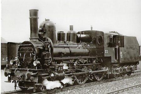 ÖBB Schnellzug-Lokomotive Nr. 372, Floridsdorf 1891. Eisenbahn Bestell-Nr. 1122