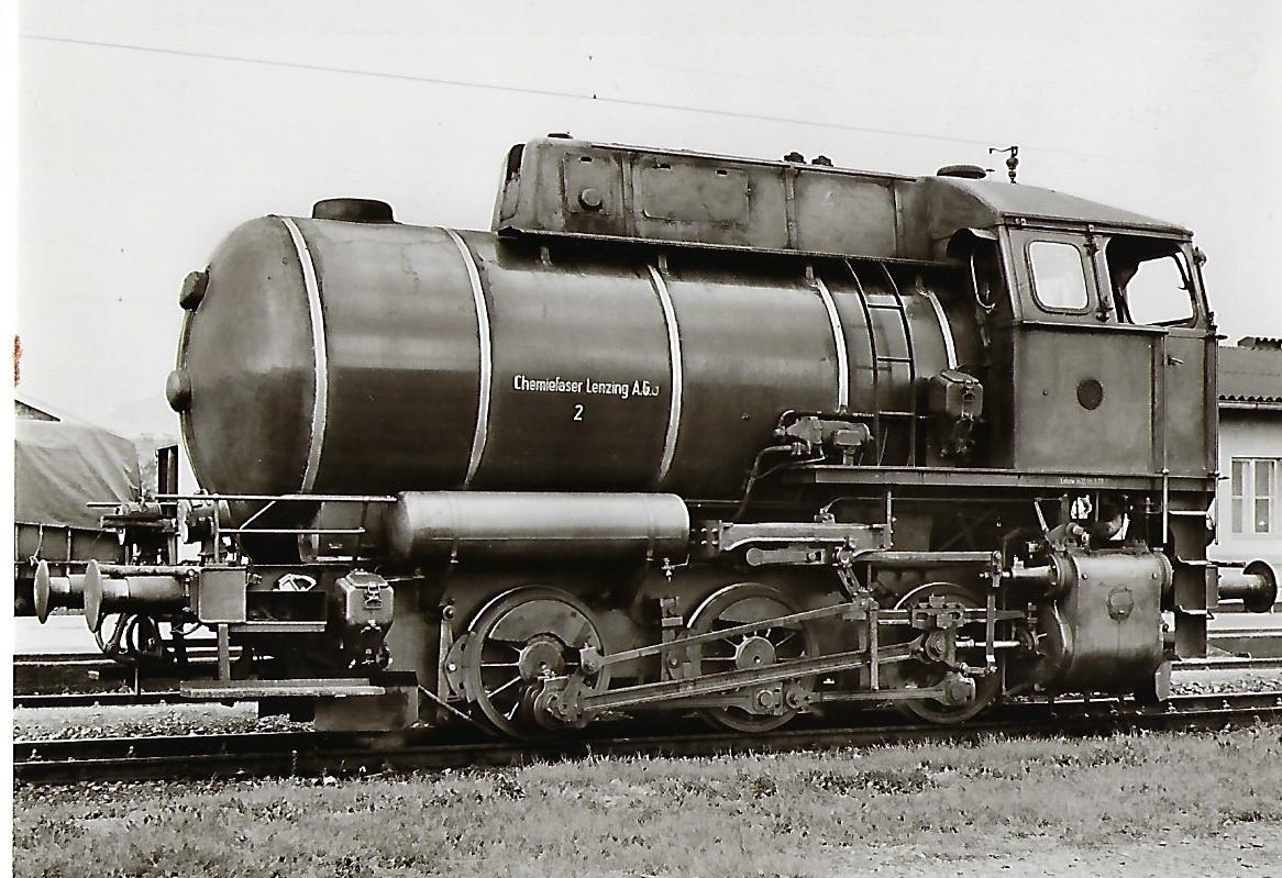 Chemiefaser Lenzing AG (Österreich). Feuerlose Dampflokomotive Nr. 2. Eisenbahn Bestell-Nr. 1123