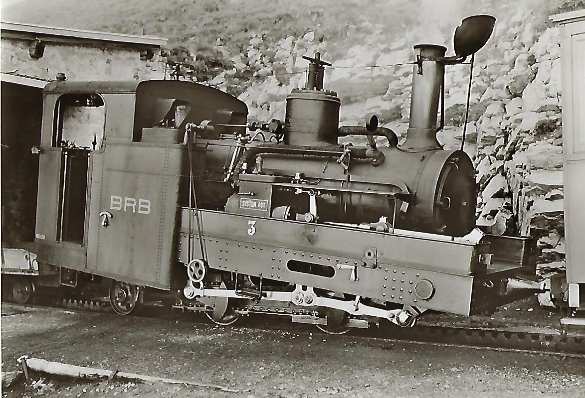Brienz-Rothorn-Bahn. Dampflokomotive Nr. 3. Eisenbahn Bestell-Nr. 1127
