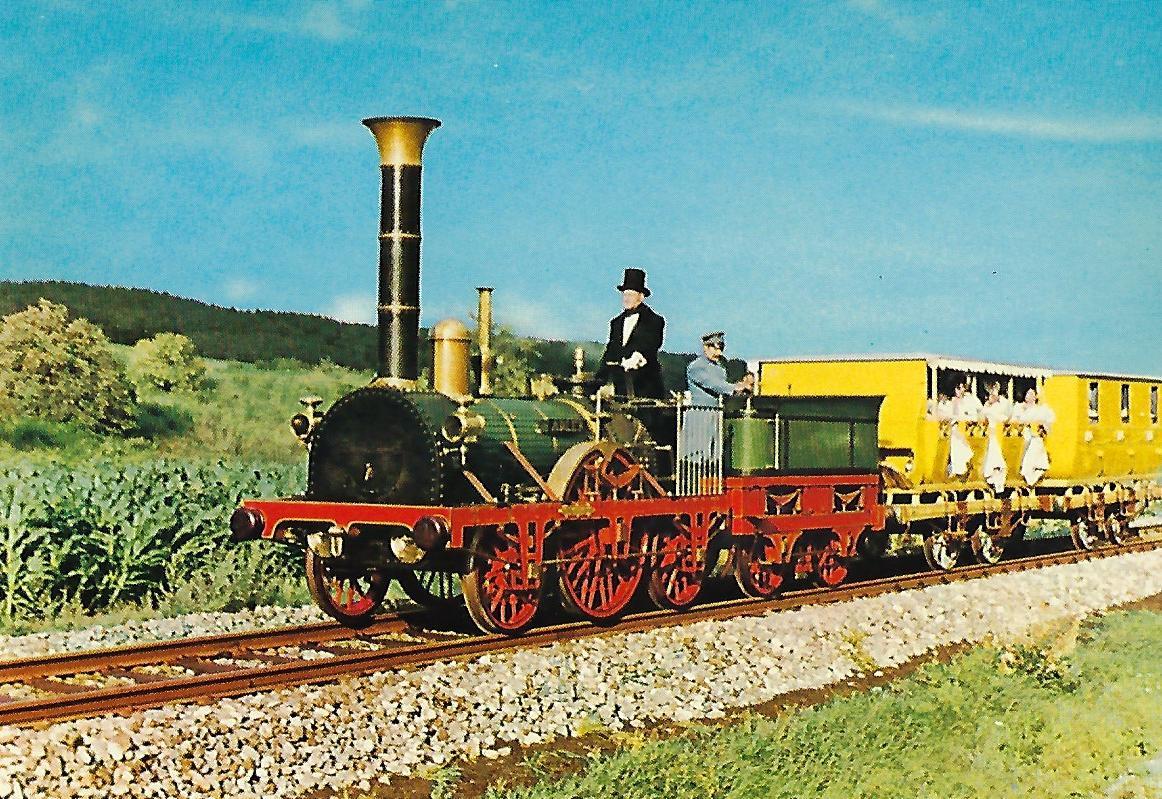 """Erste deutsche Eisenbahn: Lokomotive """"Adler"""". Eisenbahn Bestell-Nr. 1130"""