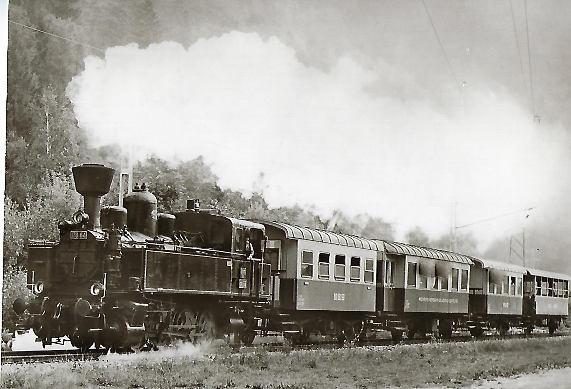 Montafonerbahn AG. Dampflokomotive 178.84 bei Lorüns. Eisenbahn Bestell-Nr. 1151