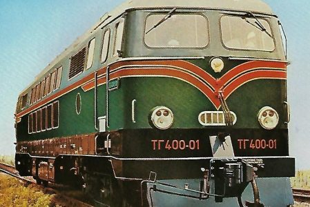Eisenbahnen der UdSSR. Dieselhydraulische Co'Co'-Lokomotive TC 400 01. Eisenbahn Bestell-Nr. 1206