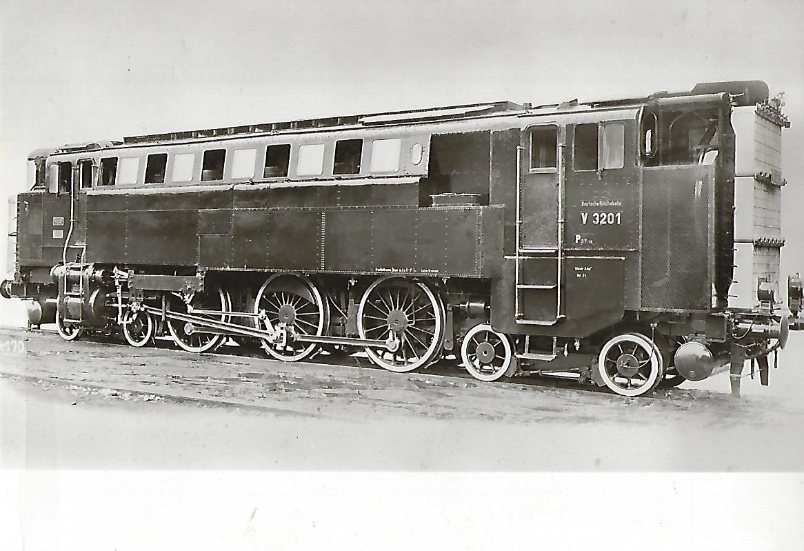 DR Diesel-Druckluft-Lokomotive V 3201 (1927). Eisenbahn Bestell-Nr. 1226