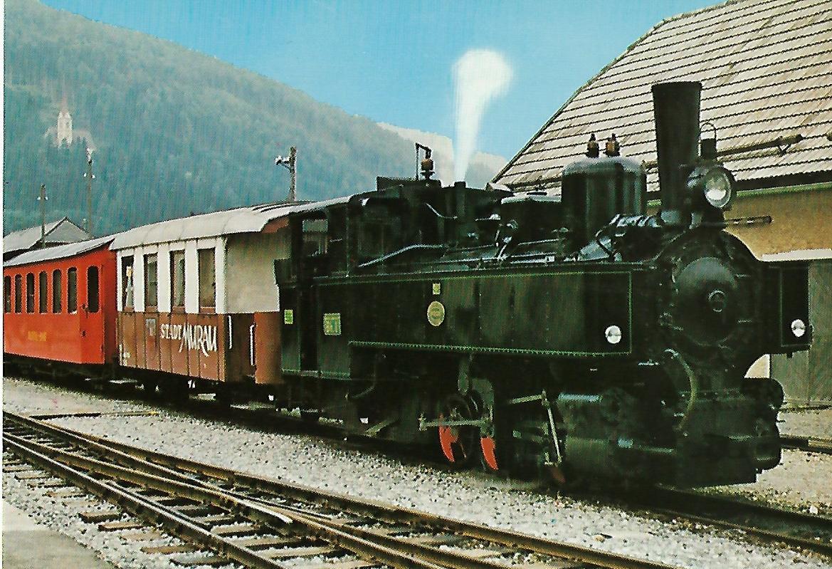 ÖBB 398.01, NÖLB Uh. 1, Lokomotive Bh 1 in Tamsweg. Eisenbahn Bestell-Nr. 1244