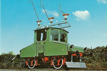 Drehstrom-Versuchslokomotive Siemens & Halske in Dessau. Eisenbahn Bestell-Nr. 1263