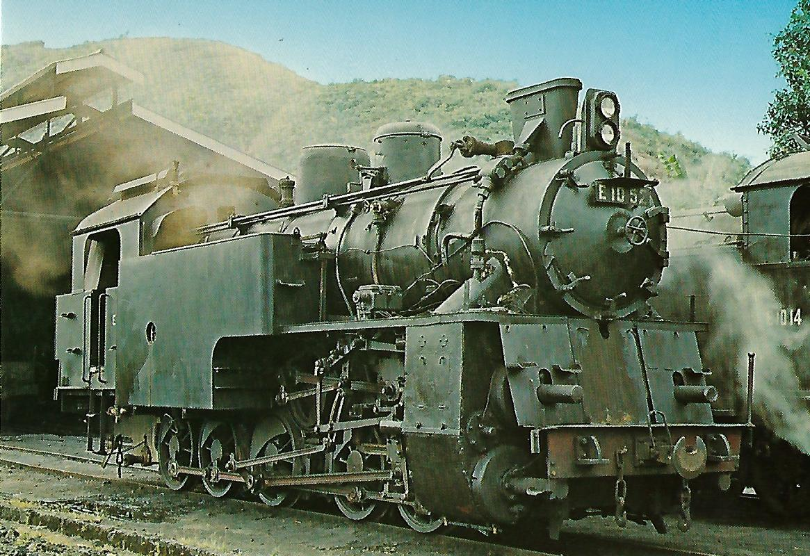Indonesische Staatsbahn (PJKA) Lokomotive E 10 52 in Padang Panjang / Sumatra. Bahnstrecke Padang–Bukittinggi/Sawahlunto.Eisenbahn Bestell-Nr. 1264