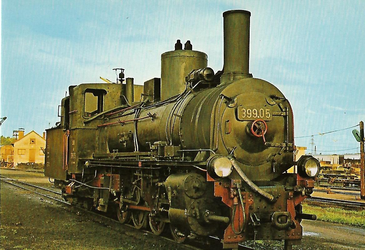 ÖBB Schmalspur-Stütztender-Lokomotive 399.05 in Gmünd / NÖ. Eisenbahn Bestell-Nr. 1265