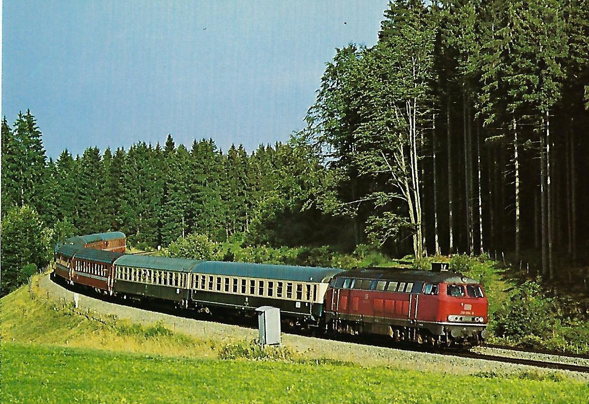 DB, Gasturbinen-Lokomotive 210 004-8 auf der Allgäubahn. Eisenbahn Bestell-Nr. 1276