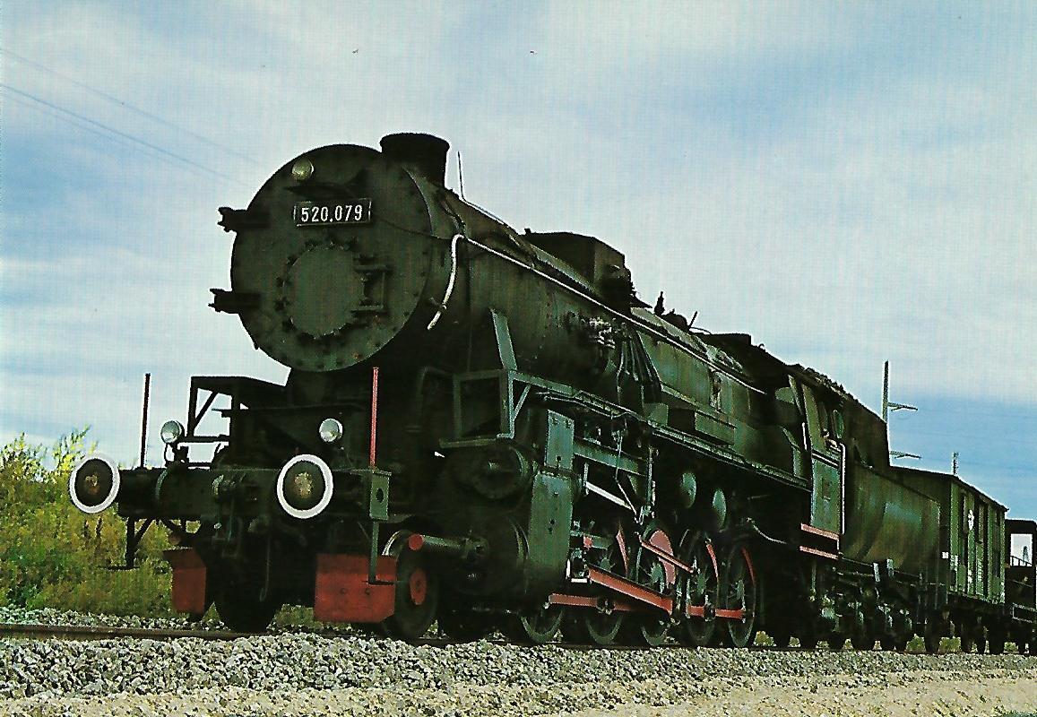 Raab-Ödenburger-Ebenfurther Eisenbahn 520 079 bei Müllendorf. Eisenbahn Bestell-Nr. 1289