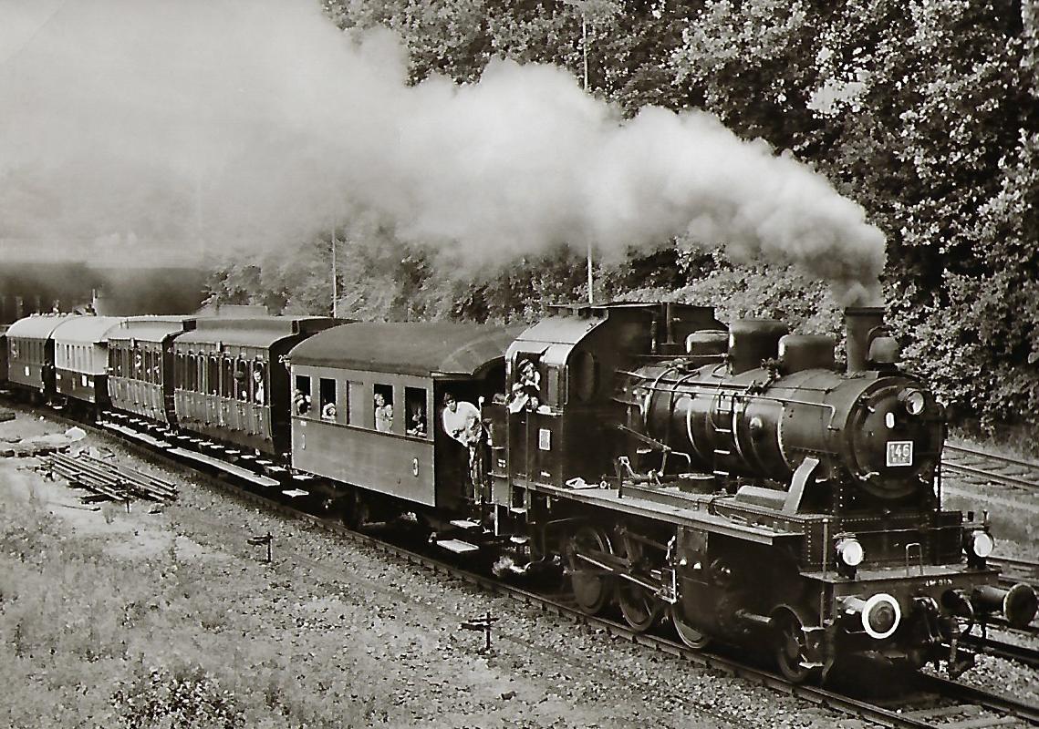 Rhein-Rhur-Museumseisenbahn Lokomotive BLE 146 in Essen/Gruga. Eisenbahn Bestell-Nr. 5052
