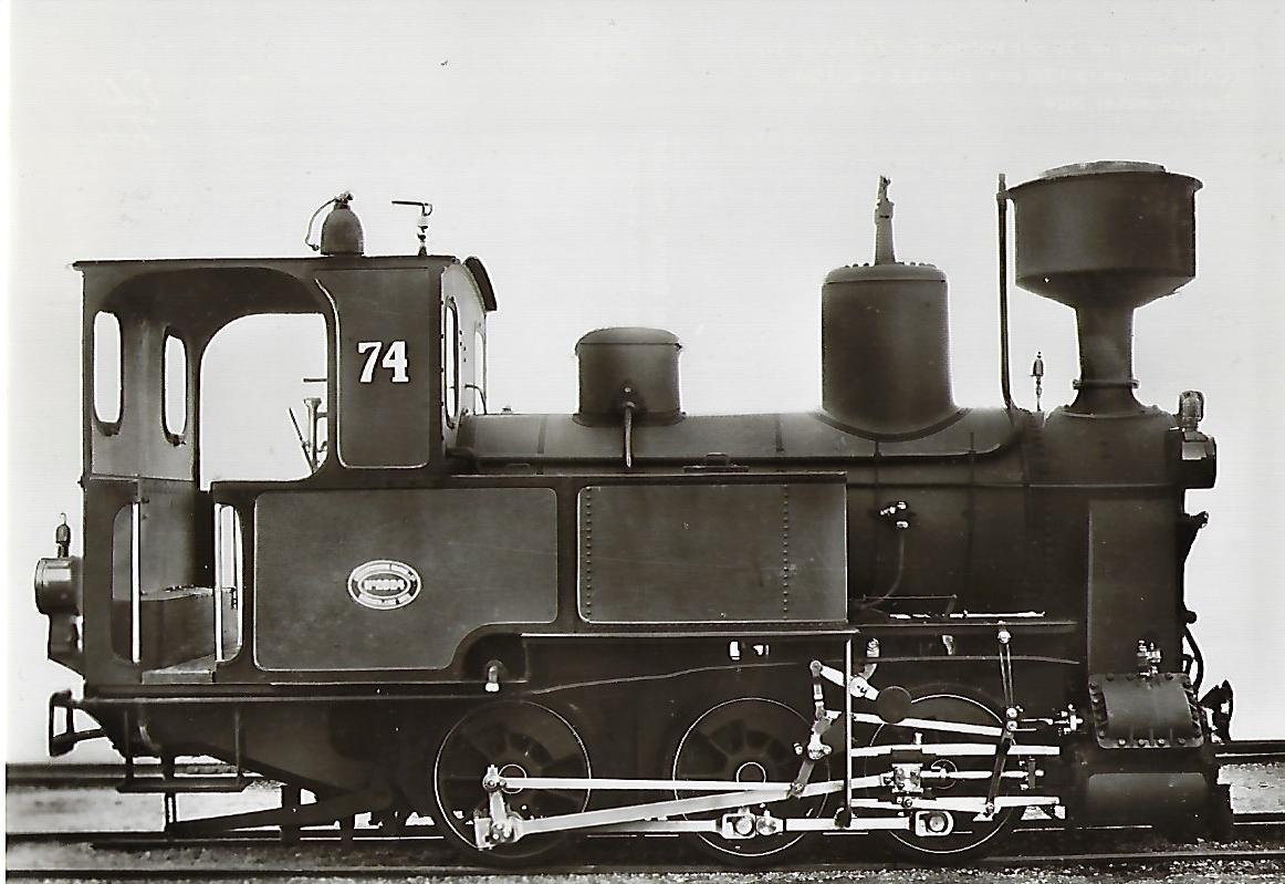 Nebenbahn Zell-Todtnau Lokomotive Nr. 74. Eisenbahn Bestell-Nr. 5100