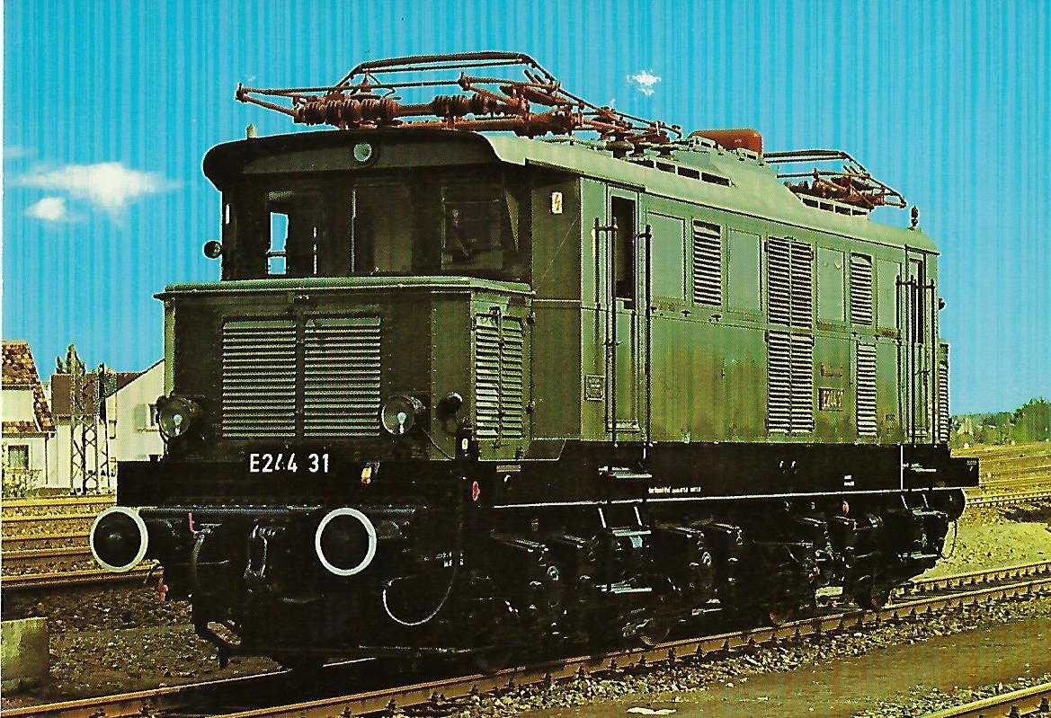 Lokomotive E 244 31 der Deutschen Bundesbahn. Eisenbahn Bestell-Nr. 5146