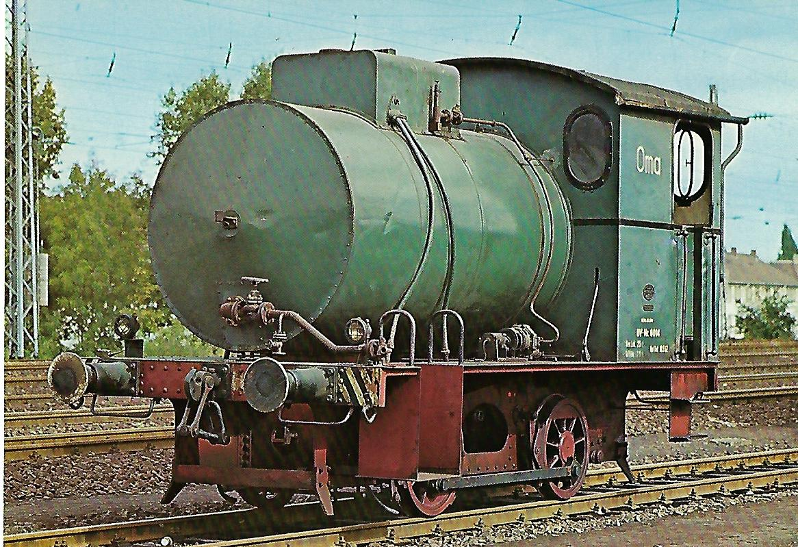 Feuerlose Dampflokomotive OMA. Eisenbahn Bestell-Nr. 5148