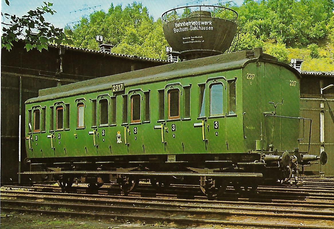 """Abteilwagen """"Essen 2317 in Bochum-Dahlhausen. Eisenbahn Bestell-Nr. 5157"""
