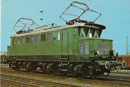 Lokomotive E 244 31 der DB in Neustadt an der Weinstraße. Eisenbahn Bestell-Nr. 5165