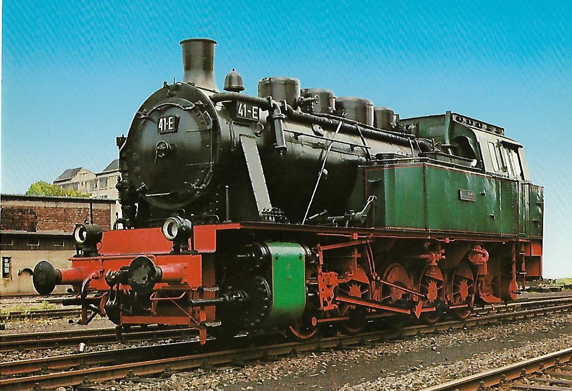 Dampflokomotive 41-E in Bochum-Dahlhausen. Eisenbahn Bestell-Nr. 5167