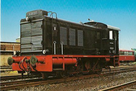 Diesellokomotive V 36 231 in Bochum-Dahlhausen. Eisenbahn Bestell-Nr. 5168