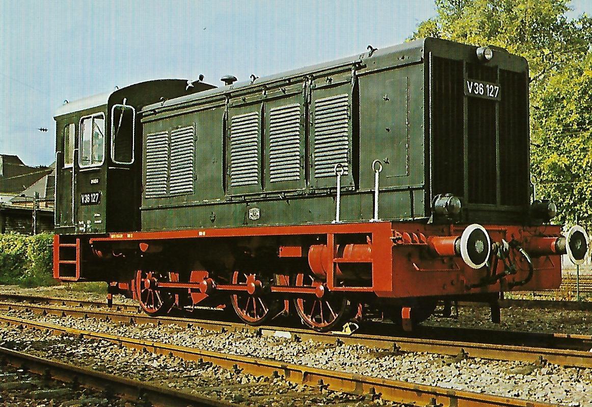 Diesellokomotive V 36 127 in Neustadt an der Weinstraße. Eisenbahn Bestell-Nr. 5171