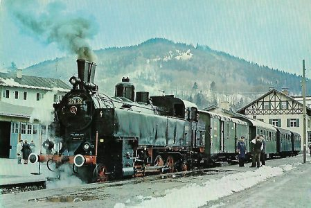 Dampflokomotive 378.32 im Bhf. Tegernsee. Eisenbahn Bestell-Nr. 10203