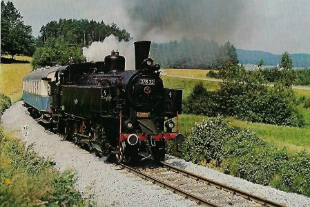 Dampflokomotive 378.32 – Regentalbahn bei Blaibach. Eisenbahn Bestell-Nr. 10204