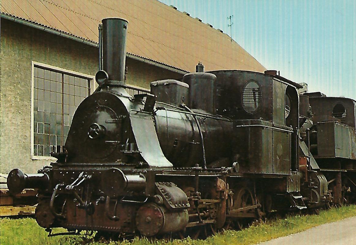"""Dampflokomotive """"Anna"""" (1889), Regentalbahn im Bhf. Viechtach. Eisenbahn Bestell-Nr. 10212"""