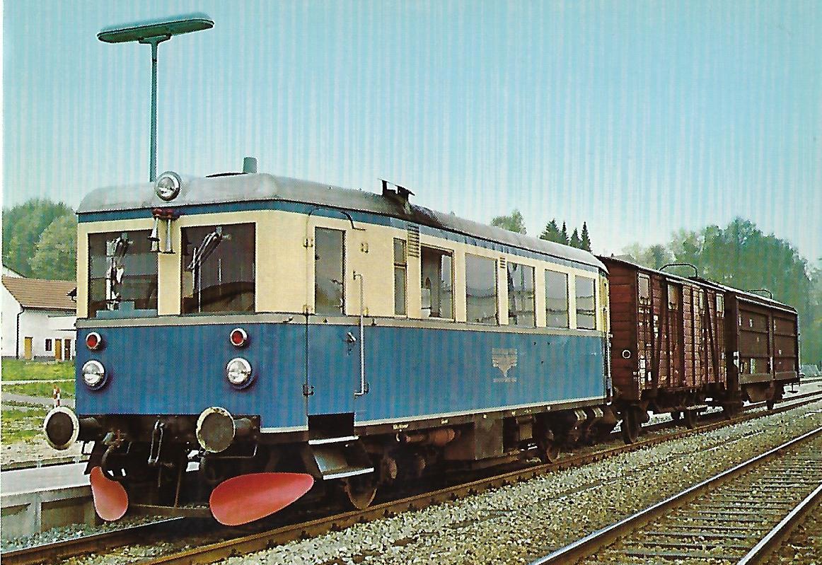 VT 02 (Dessau 1933) in Deggendorf. Eisenbahn Bestell-Nr. 10216