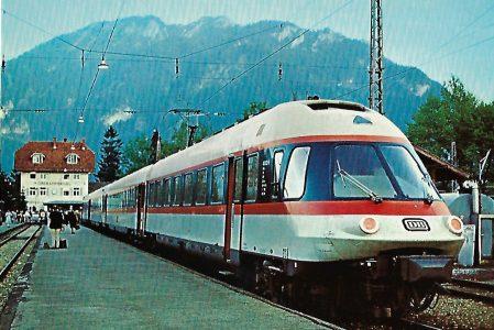 ET 403 im Bhf. Oberammergau am 21.10.1976. Eisenbahn Bestell-Nr. 10226