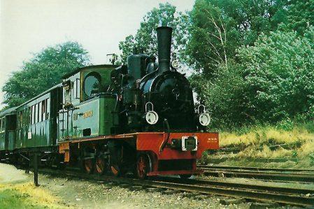 """Dampflokomotive """"Spreewald"""" am 24.6.1979 in Heiligenberg.. Eisenbahn Bestell-Nr. 10241"""