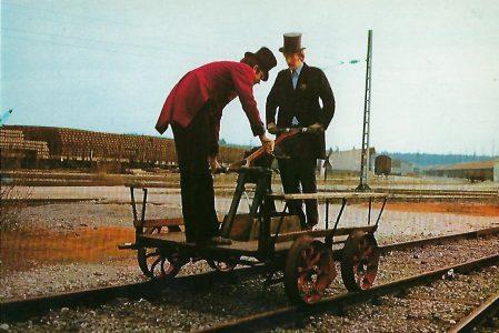 ECM Handhebeldraisine. Eisenbahn Bestell-Nr. 10243