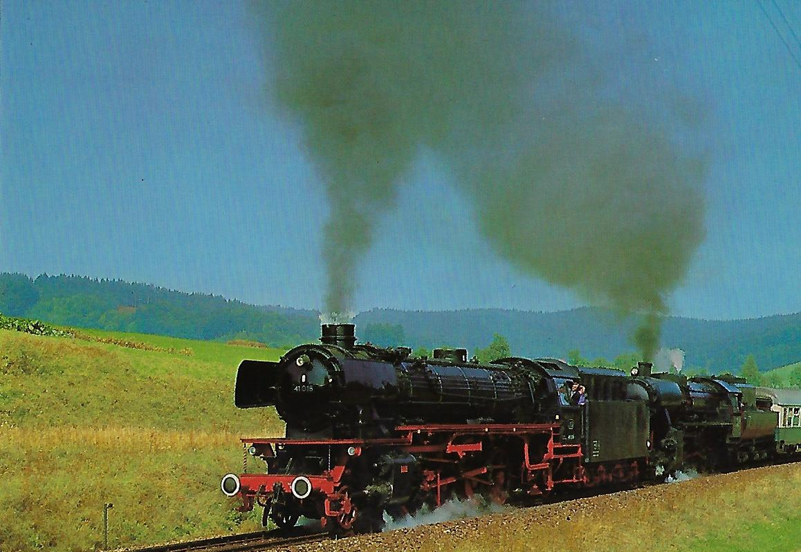 IG 41018 e.V. Eilgüterzug-Lokomotive bei Attnang/Puchheim. Eisenbahn Bestell-Nr. 10247
