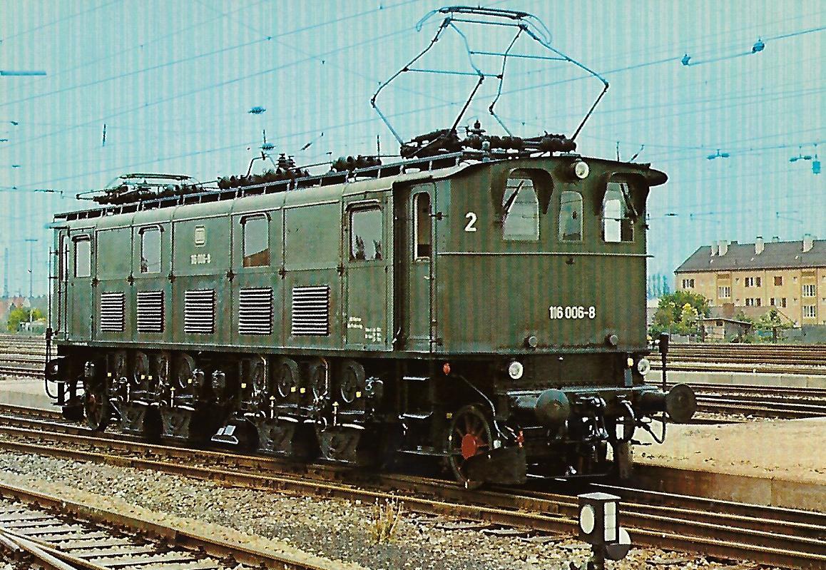 116 006-8 Elektrische Schnellzuglokomotive in Nördlingen. Eisenbahn Bestell-Nr. 10256