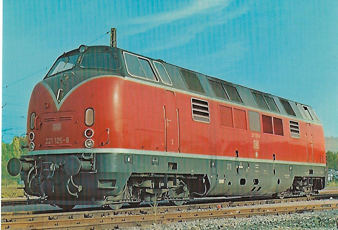 2221 125-8 Dieselhydraulische Lokomotive im Hbf. Heilbronn. Eisenbahn Bestell-Nr. 10267