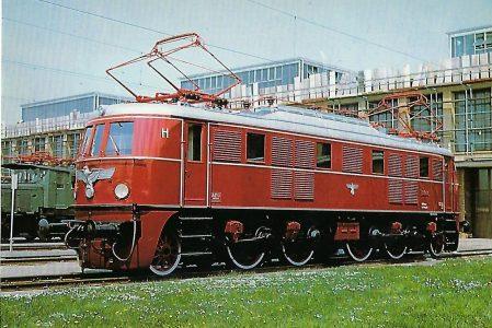 E 19 01 Elektr. Schnellzuglokomotive im Aw München Freimann, 1979. Eisenbahn Bestell-Nr. 10281
