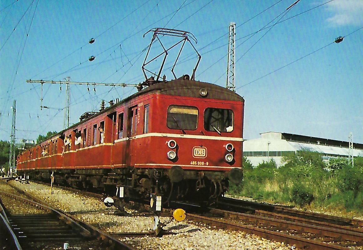 ET 465 009-9am 25.5.1979 als Pendelzug zwischen München Hbf. und Aw München-Freimann. Eisenbahn Bestell-Nr. 10285