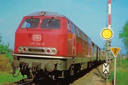 215 134-8 DB Dieselhydraulische Lokomotive bei Langlau/Mfr. Eisenbahn Bestell-Nr. 10296