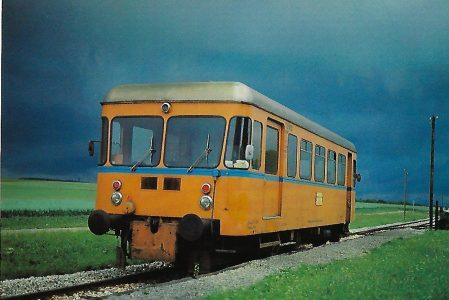 Württembergische Eisenbahn-Gesellschaft (WEG), VT 05 bei Waldhausen. Eisenbahn Bestell-Nr. 10318