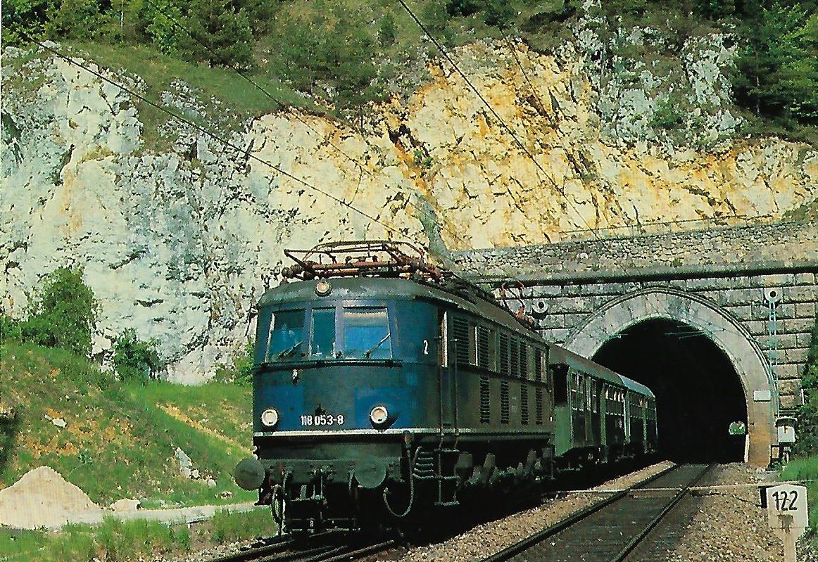 118 053-8 DB Schnellzuglokomotive bei Solnhofen. Eisenbahn Bestell-Nr. 10322